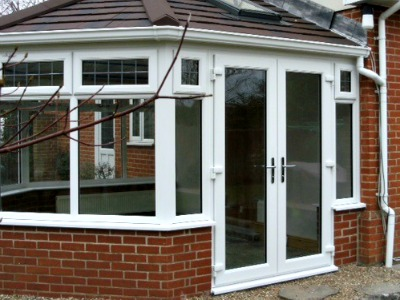 French Doors from Conservatory