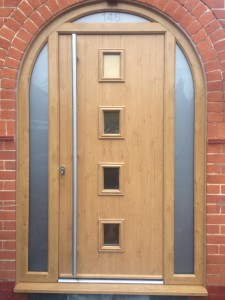 Arched Composite Door with Glazed Panels