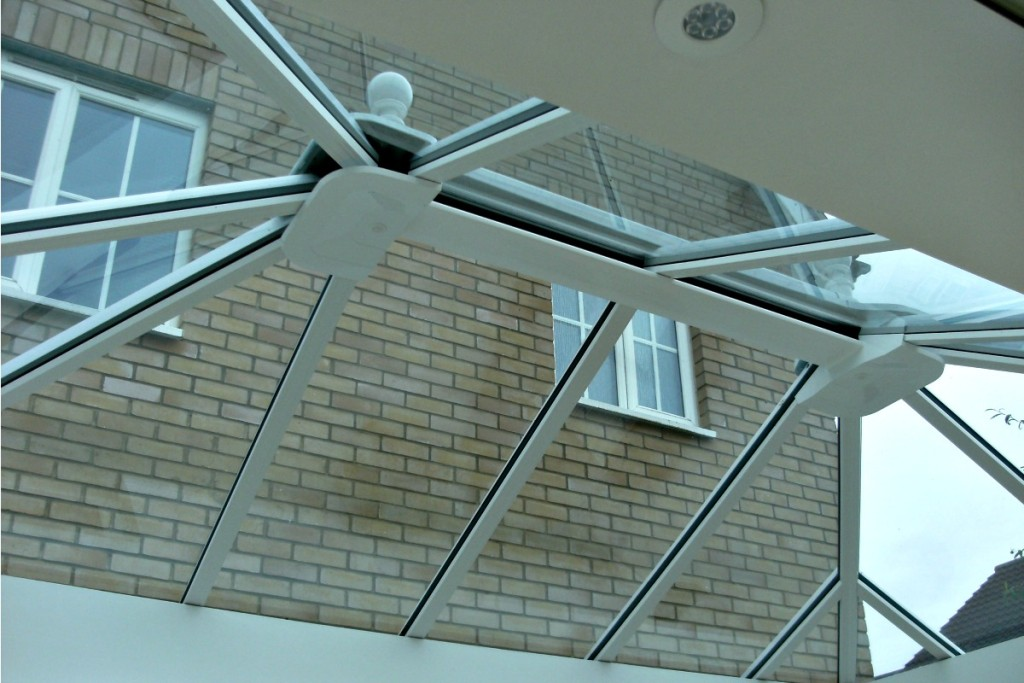 A wonderful glass roof creates a light, bright space.