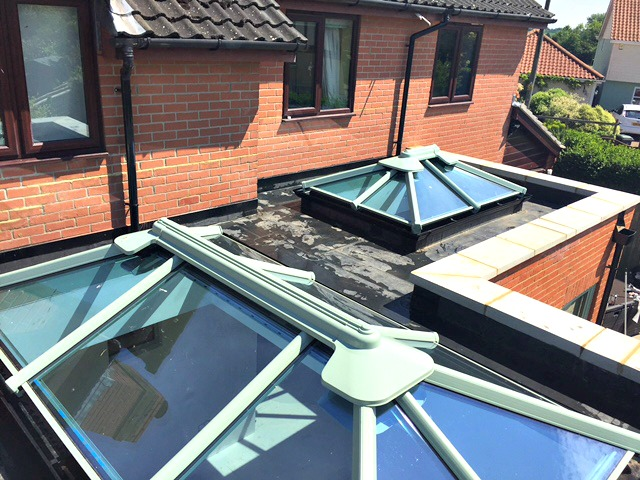 Orangery with roof lanterns