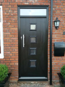 Composite Door with Glazed Panels