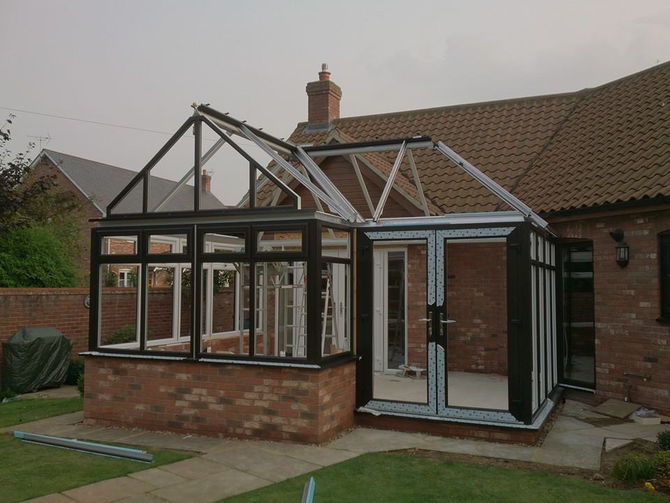 New Aluminium Frame Conservatory with Glass Roof
