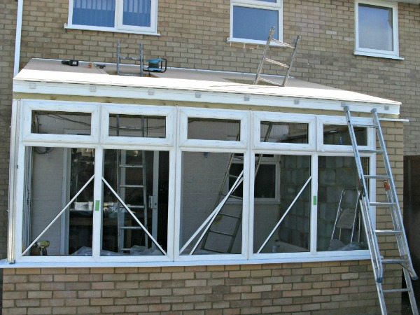 The new conservatory is taking shape...