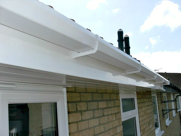 UPVC fascias, soffits & guttering provide a low maintenance option