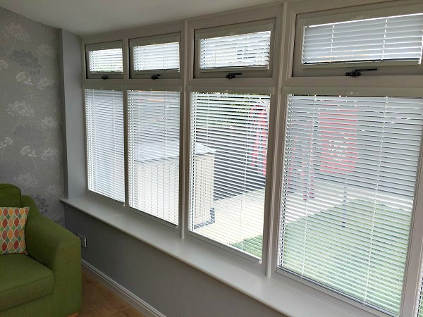 Conservatory blinds provide privacy AND light