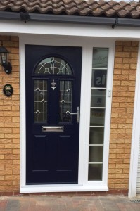 Classic look front door with vision panel