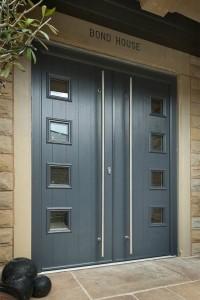 Imposing Double Entrance Composite Doors