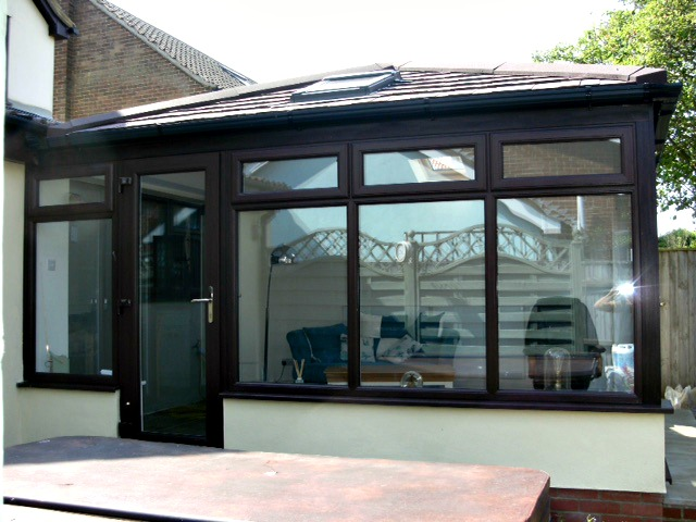 UPVC Conservatory with tiled roof & rooflight