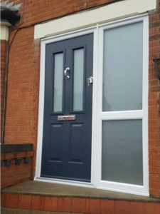 New Composite Door with Frosted Glass Panels
