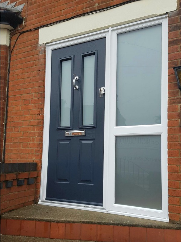 New Composite Door With Frosted Glass Panels Fis Windows