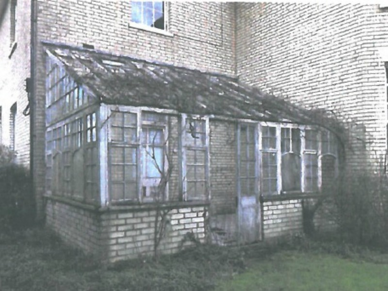 This conservatory in Ipswich had seen better days...