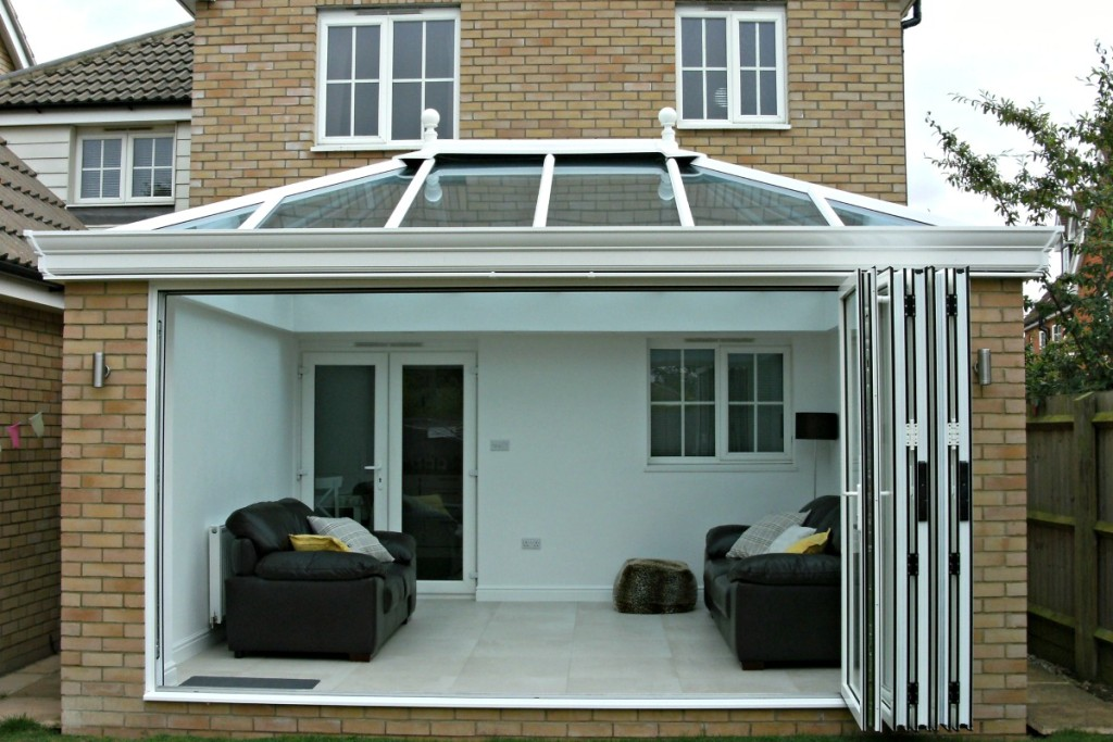 Stylish bi-fold doors bring the outside in...