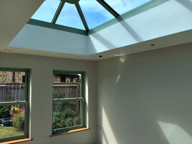 Roof lanterns add extra light...