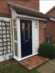 New UPVC Porch with Composite Door