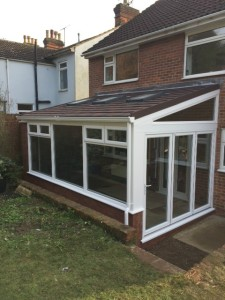 Enter a lovely New UPVC Conservatory with Guardian Warm Roof