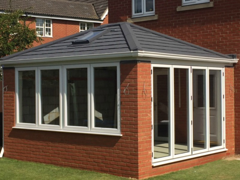 New Conservatory With Bi Fold Doors Amp Solid Warm Roof