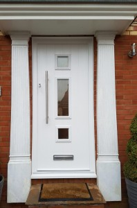 White Composite Door with Glazed Panels