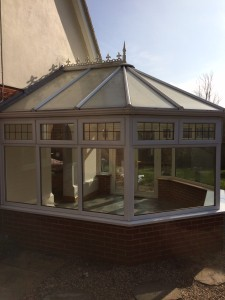 Conservatory with polycarbonate roof