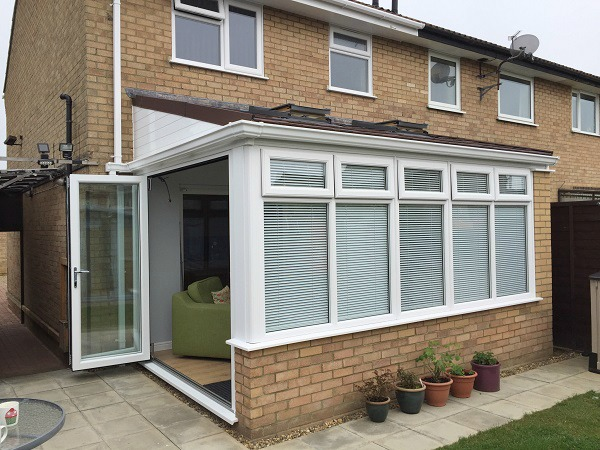 Bi-fold doors create a feeling of space