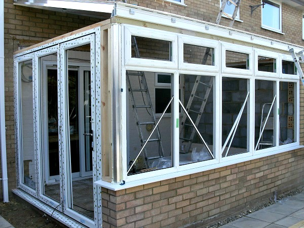 New Conservatory framework goes in