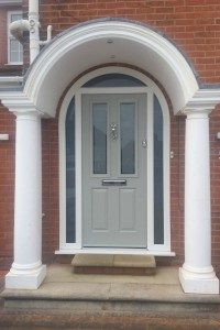 Beautiful New Composite Door with Arched Frame