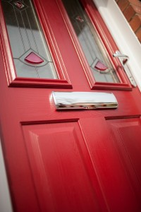 Gorgeous Red Composite Front Door
