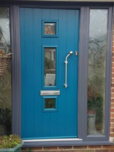 Beautiful UPVC Front Door in Peacock Blue