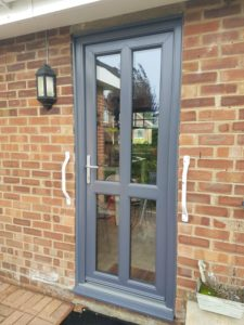UPVC Door in Slate Grey