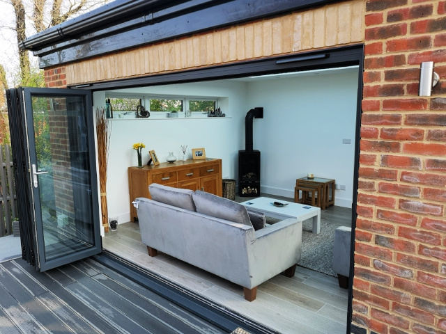 Bi-fold doors bring the outside in...